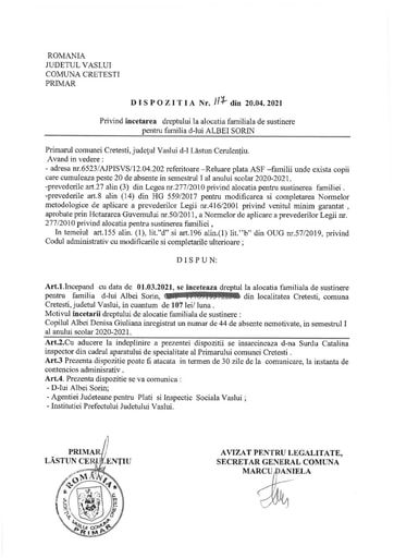 DISPOZITIA NR  117